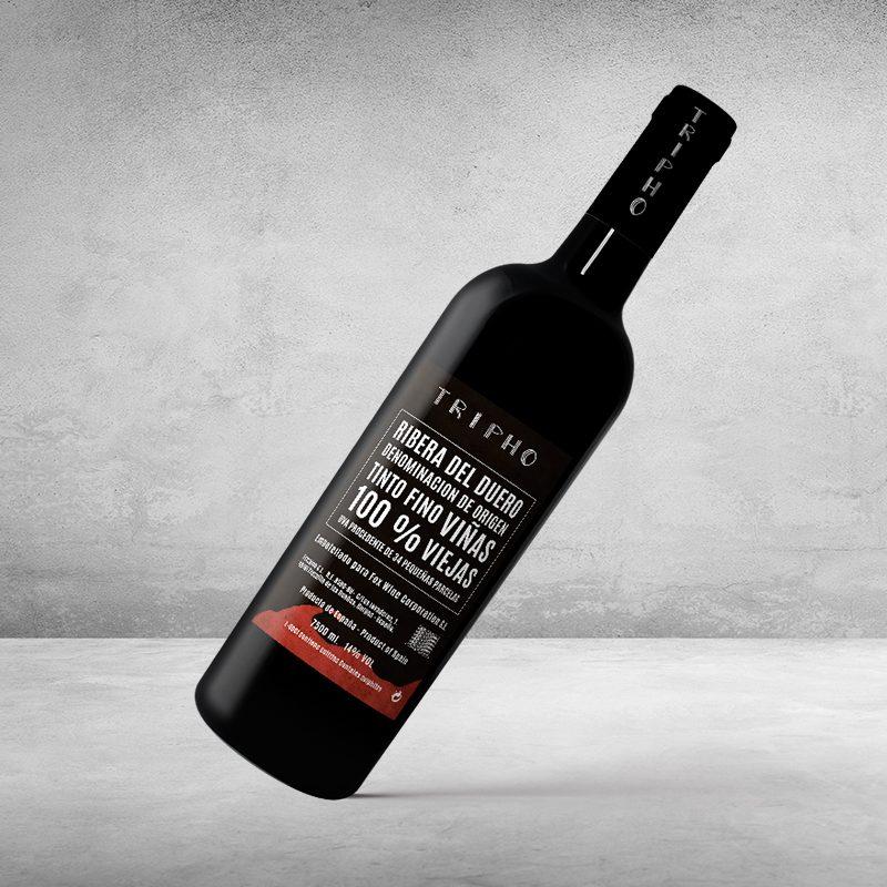 Diseño de botellas de vino
