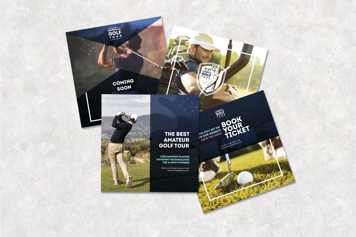Diseño de flyers para eventos deportivos