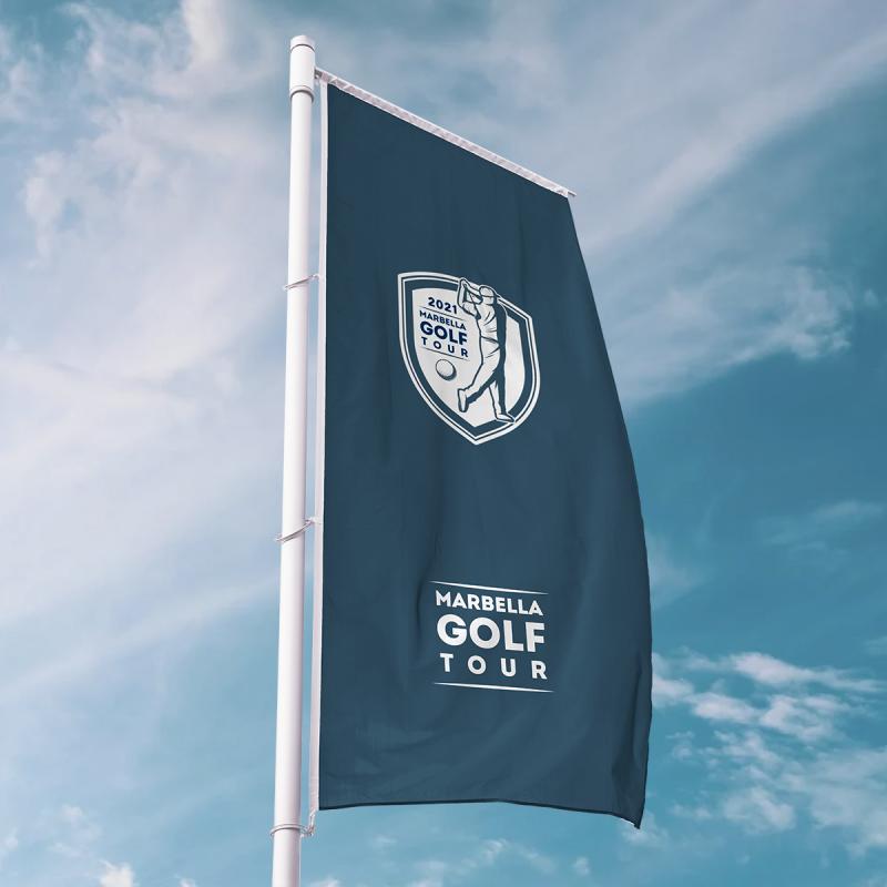 Diseño de banderolas para eventos deportivos