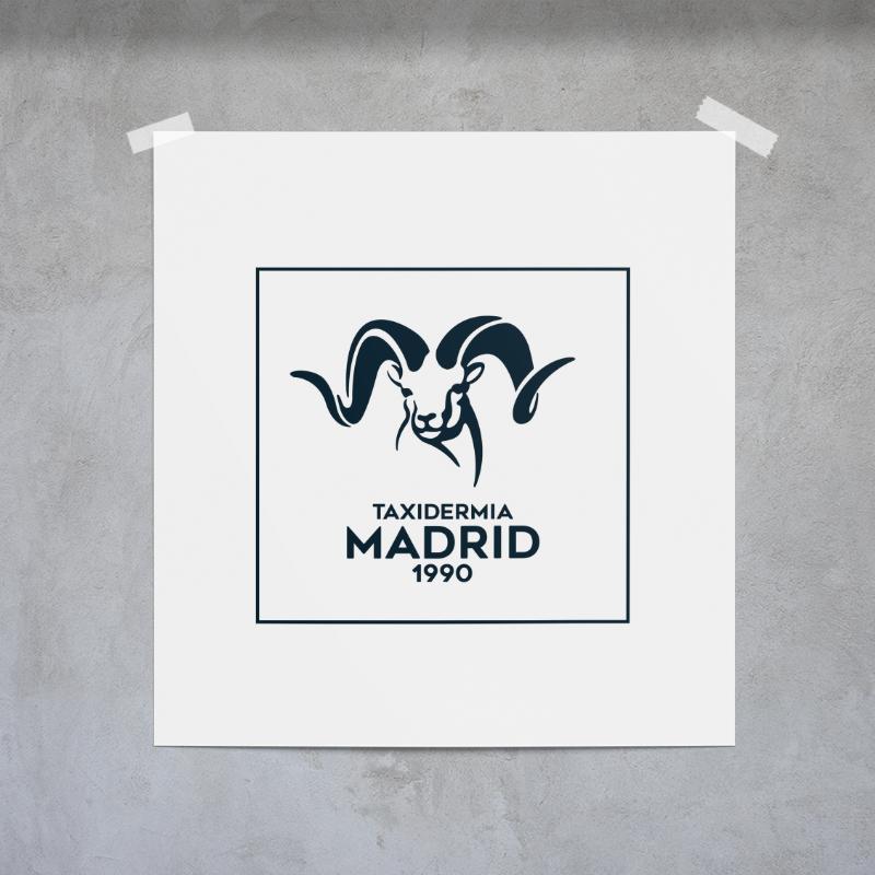 Diseño de logotipo para Taxidermia Madrid 1990